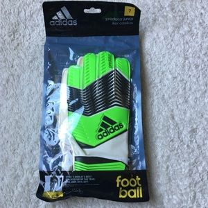 Adidas Predator Goalie Gloves Juniors Size 7 New